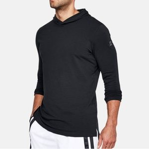 Under Armour Baseline Men's Hooded Tee NEW black